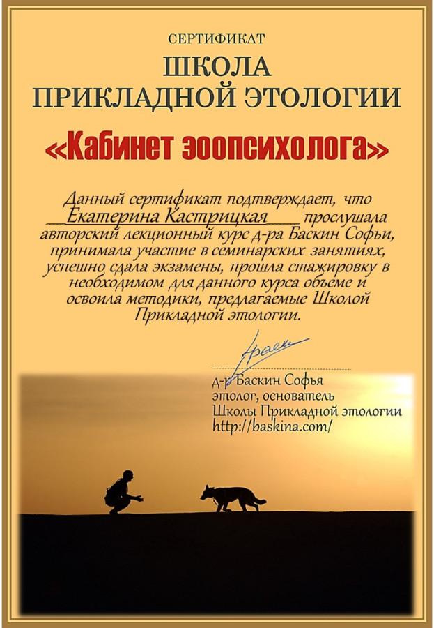 Екатерина Кастрицкая Окончила курс tiff