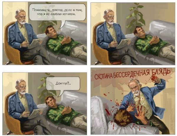 психолог, пациент и котики