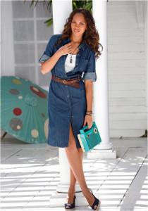 Обувь для джинсового платья
