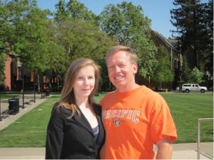 Я и мой отец в мае 2012 г.