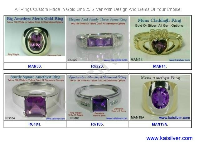 February Birthstone Rings For Men