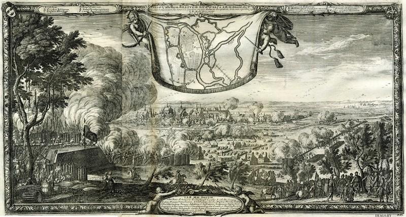 Гравюра Эрика Дальберга «Осада Бреста шведами 1657 года». Фото: imago.by