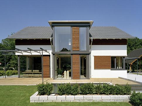 Passivhaus und Holzhaus Grün für die Zukunft