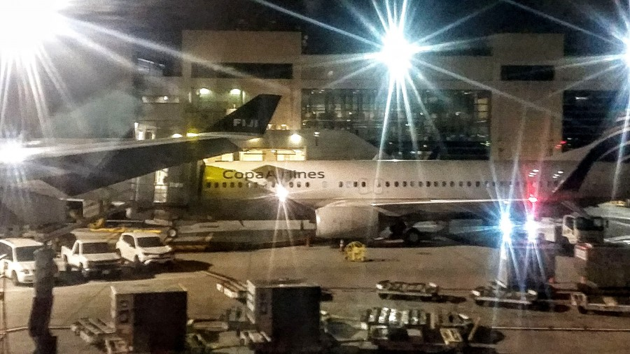 This shot of a COPA plane is actually from my non-COPA flight to Fiji!