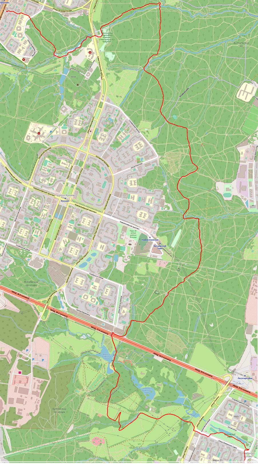 Карта Коньково-Старокачаловская