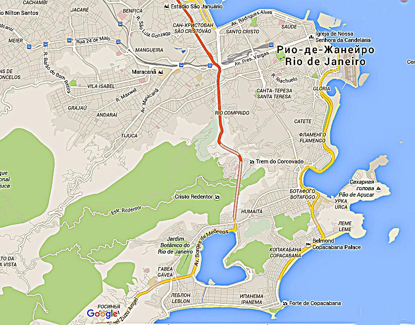 Карта Рио
