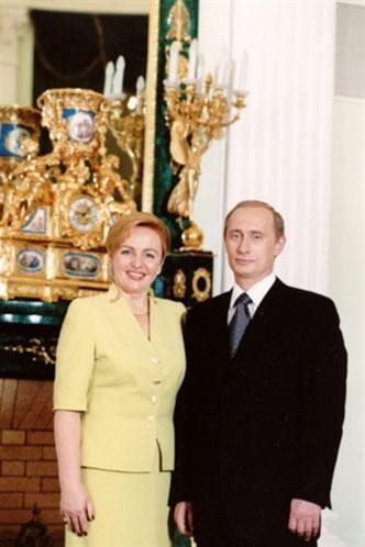 Путин с женой