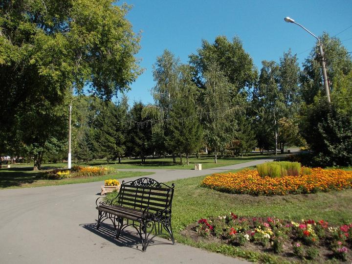 В летнем парке.