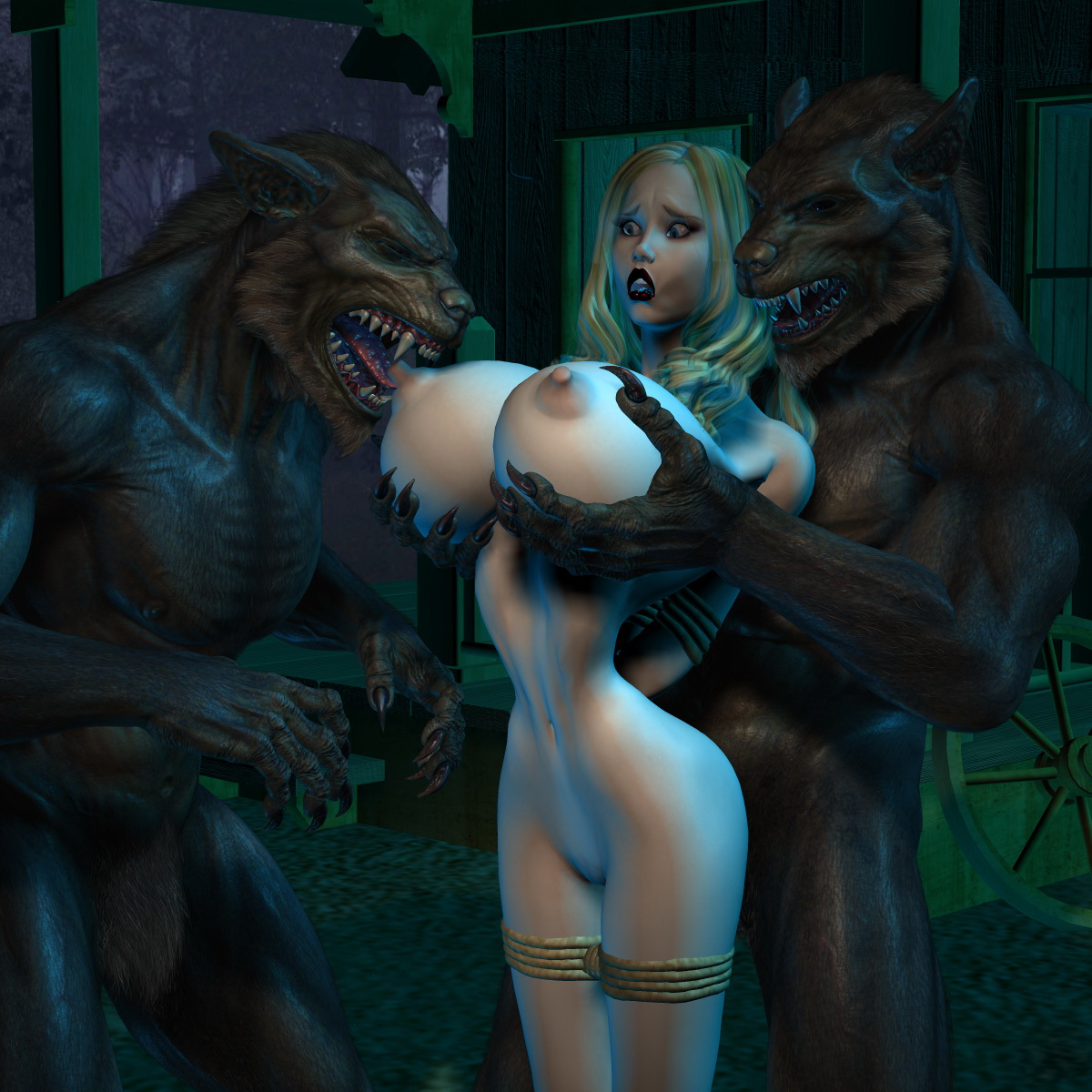 Monster werewolf sex 3d hentai porncraft girls