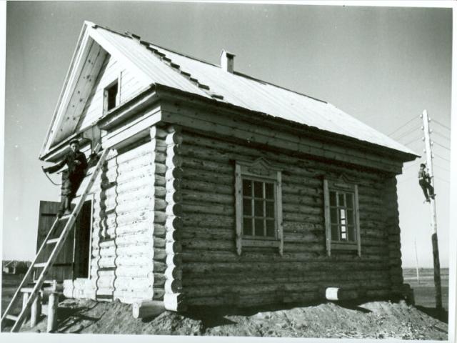 Колхозные электромонтажники 1947