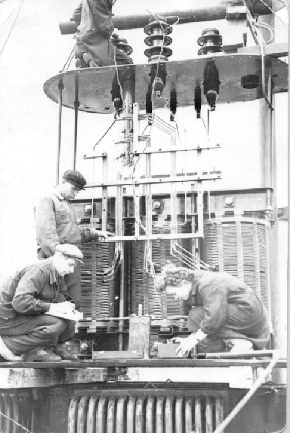 Проверка изоляции трансформатора ПС Бишмунча 1964г