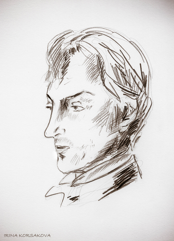 Michail-Kozakov-portrait-by-Irina-Korsakova