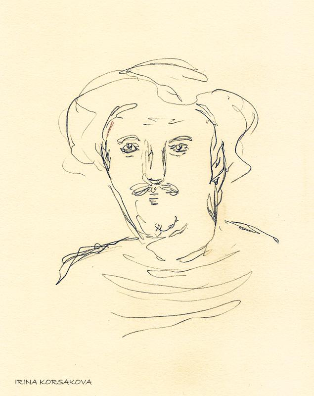 Old-man-portrait-by-Irina-Korsakova