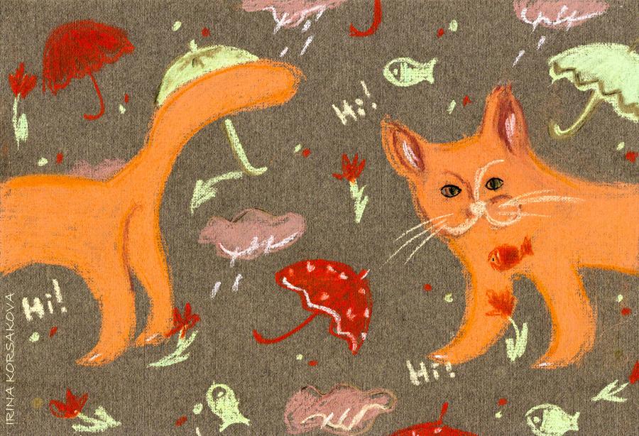 Irina-Korsakova-Cat-rain-pattern 2015