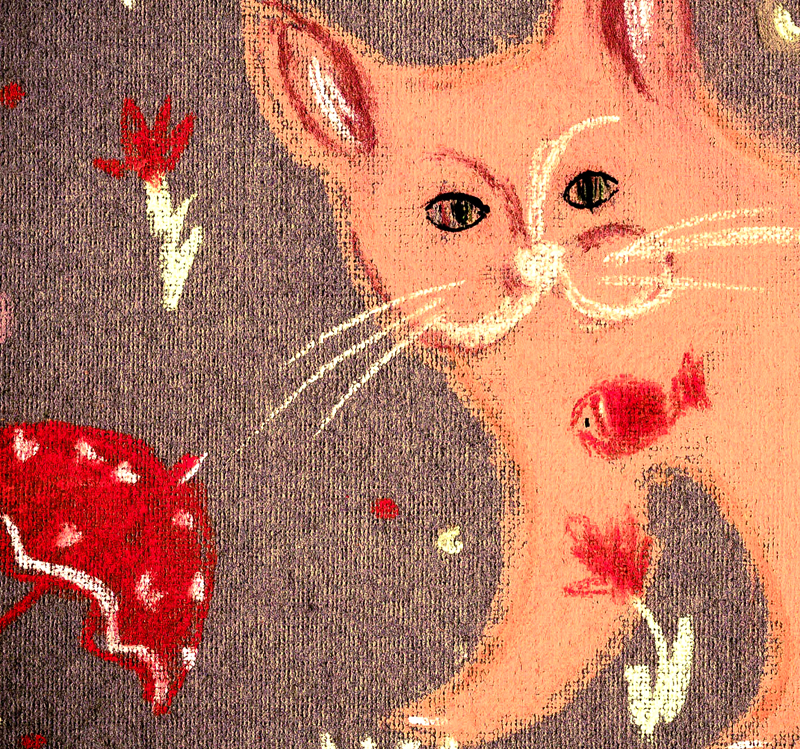 Rainy-cat-fragment-of-pattern-Irina Korsakova