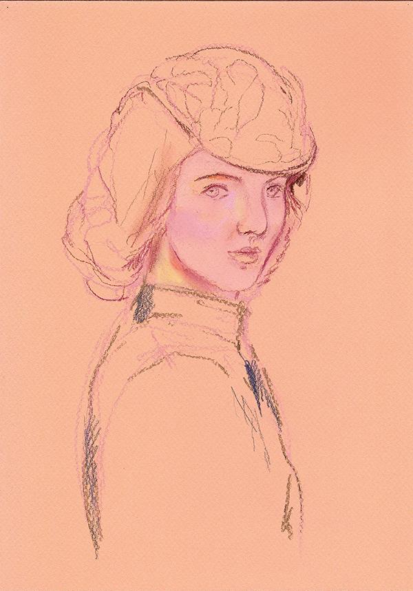 Irina-Korsakova-Sketch2-of-a-woman's-portrait