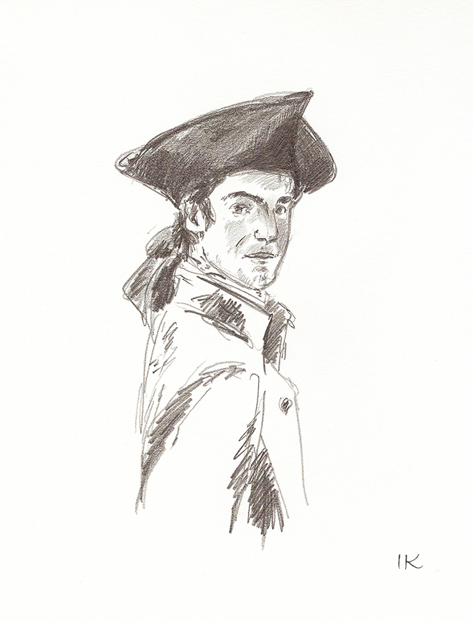 Sketch_Portrait of a Man in a Tricorn Hat  Irina Korsakova