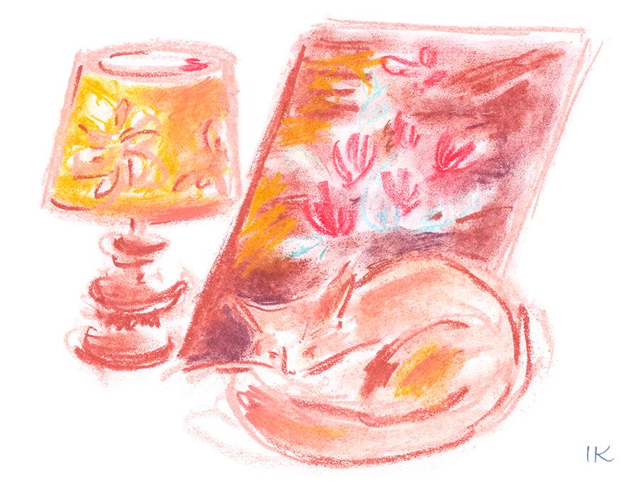 Cat-and-lamp-by-Irina-Korsakova