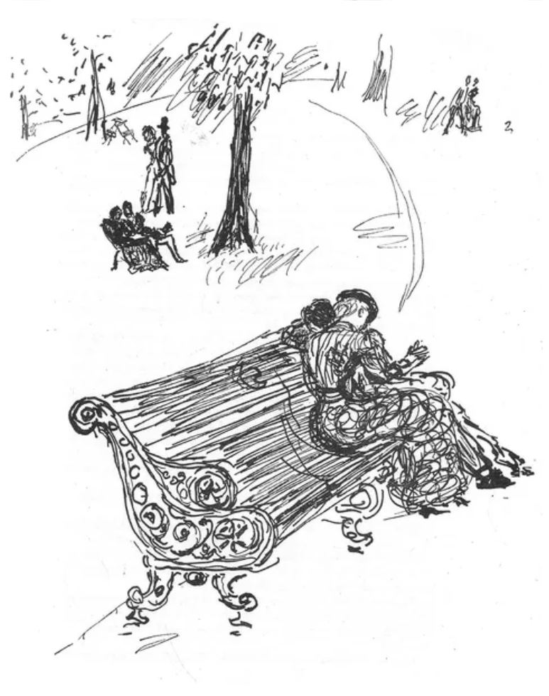 Иллюстрация к Саге о Форсайтах Голсуорси