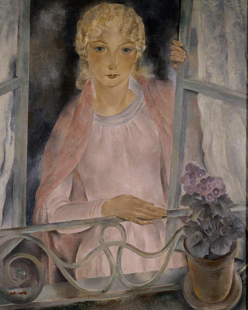 Jeune fille au balcon - Anto Carte ~1930
