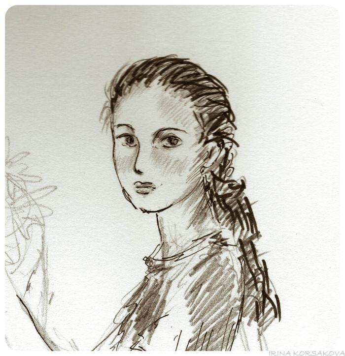 Irina-Korsakova-girl-sketch