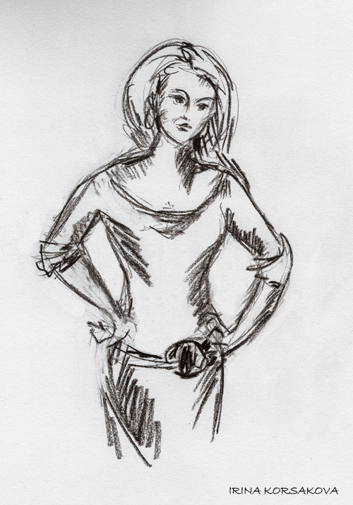 sketch-woman-Irina Korsakova