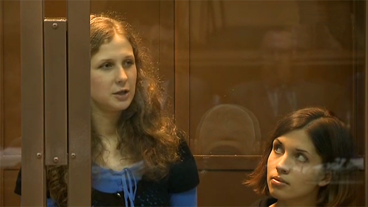 Nadezhda Tolokonnikova Maria Alyokhina members of Pussy Riot Group from prison