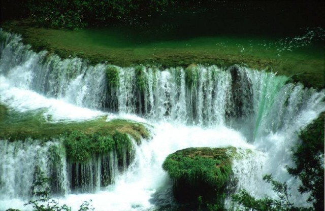 Waterfalls on River Krka in Croatia
