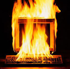Computer in Flames