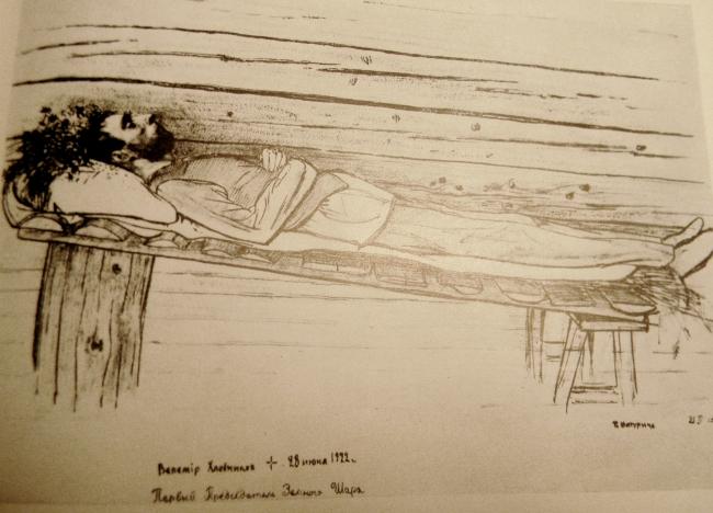 петр митурич хлебников на смертном одре
