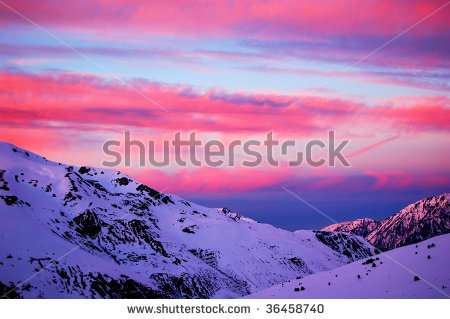 stock-photo-red-sunset-in-andorra-36458740