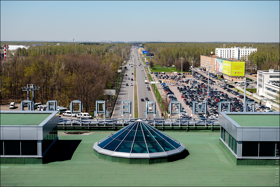 Аэропорт Домодедово: вид сверху... с вышки! 2617