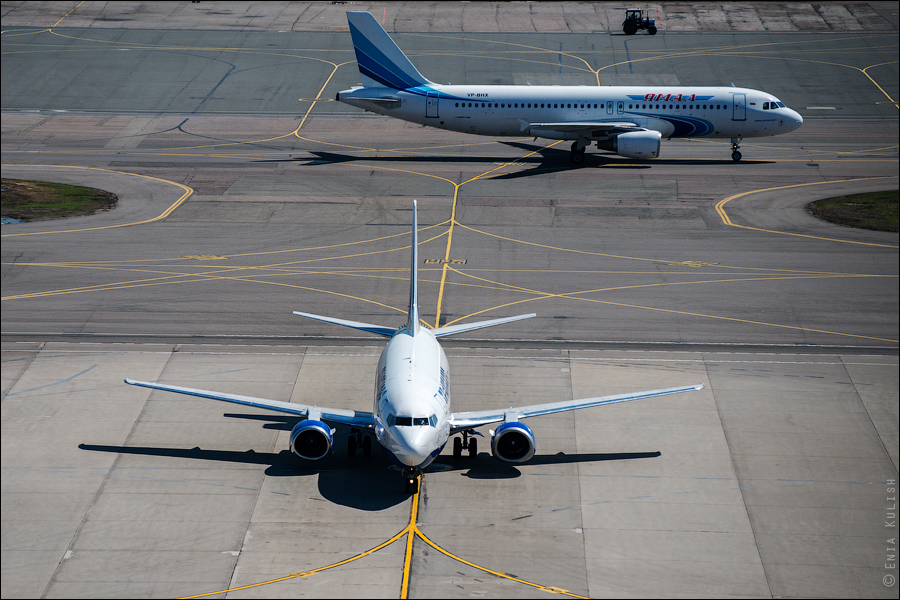 Аэропорт Домодедово: вид сверху... с вышки! 2661