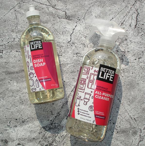 Better Life Dish Soap Pomegranate 651 Ml и Better Life All