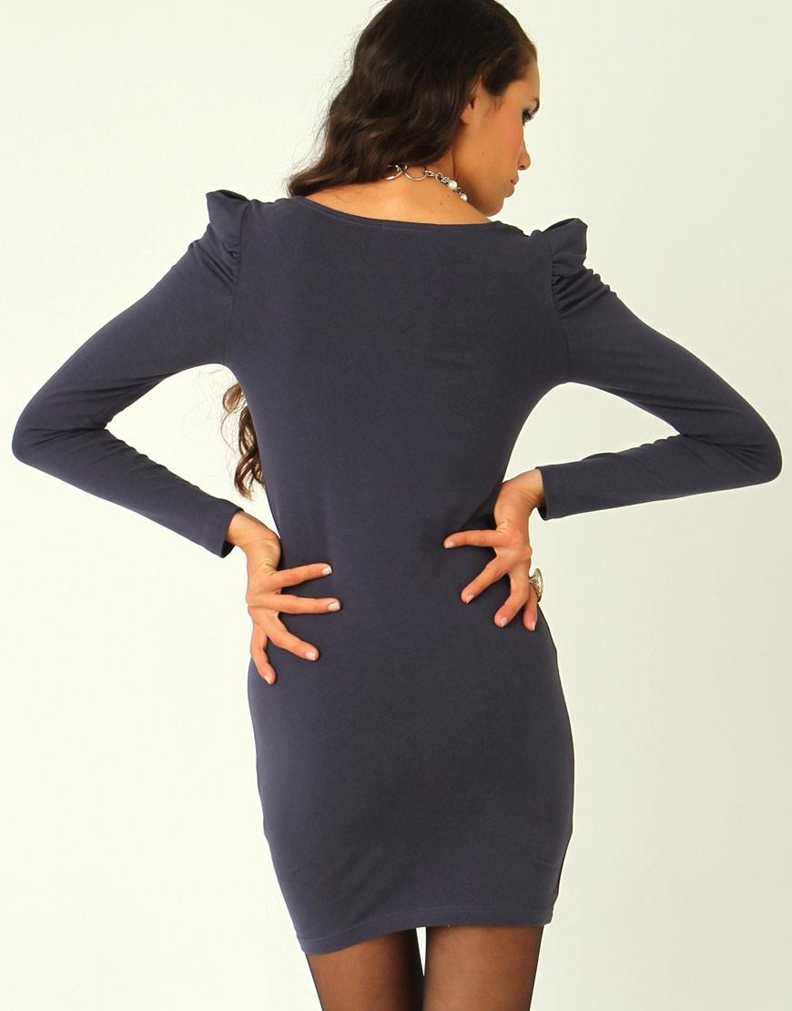 midnight-puff-sleeve-dress 2