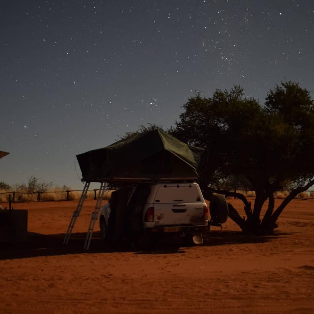 Ночевка в кемпинге в Калахари