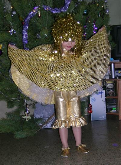 Карнавальный костюм Золотая кукла