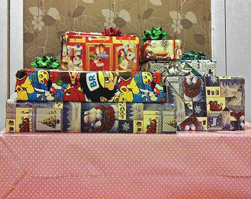 Подарки упакованы