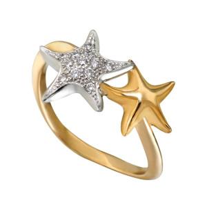 5 Коллекция Atenea, кольцо из белого и желтого золота с бриллиантами
