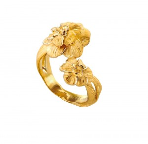 6 Коллекция Gardenias, кольцо из желтого золота