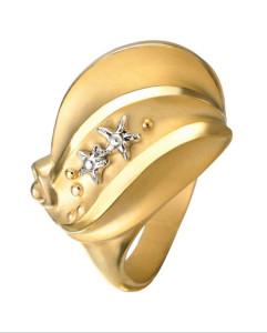 8 Коллекция Atenea, кольцо-макси из белого и желтого золота