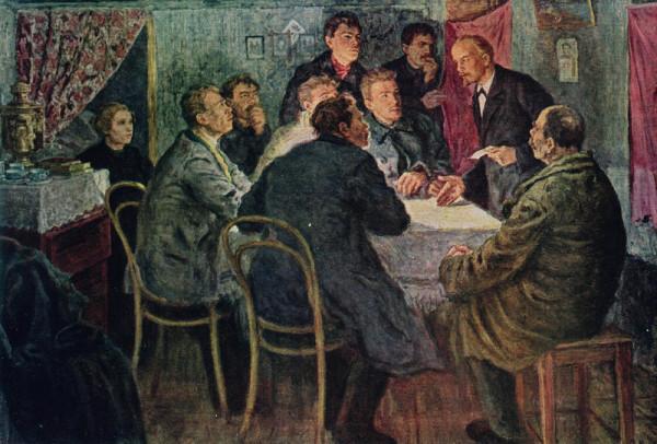 А. Моравов «В. И. Ленин руководит марксистским кружком в Петербурге».