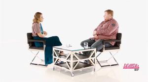 Ксения Собчак и Егор Просвирнин на телеканале «Дождь» 26 июня 2014 года