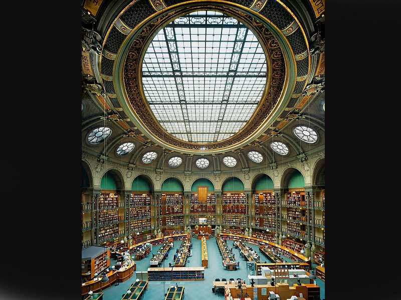Национальная библиотека Франции Ришелье Овальный зал Париж Франция