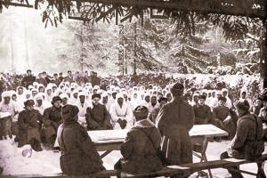 Партсобрание новосибирской части, 1941