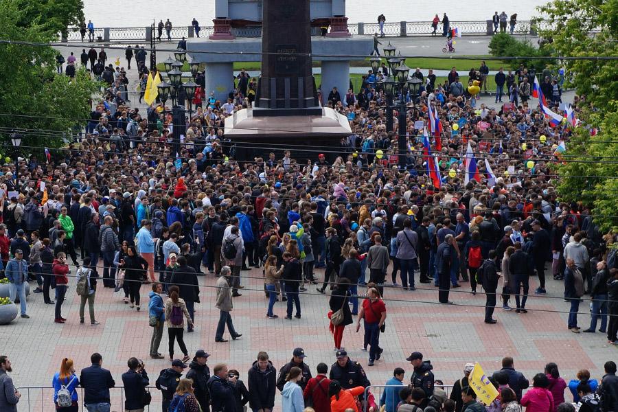 Антикоррупционный митинг сторонников Навального