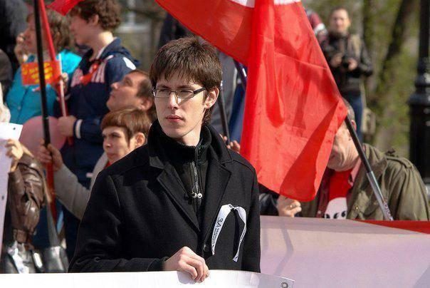 Андрей Рудой на «белоленточном» митинге в 2012 году