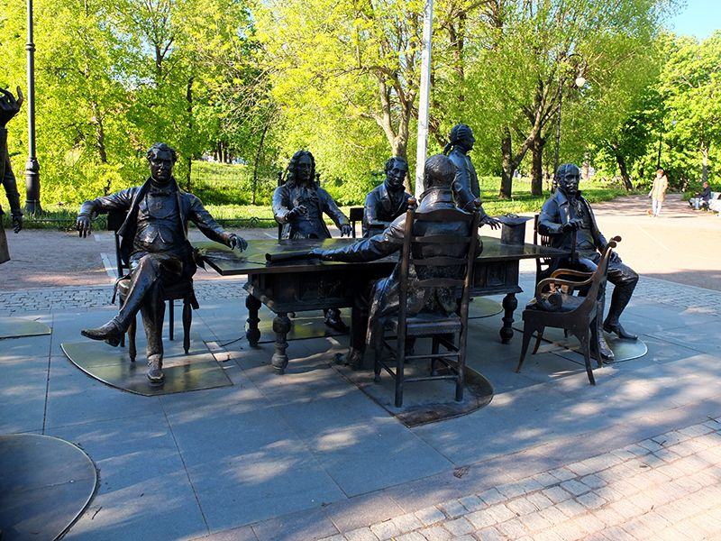 Зодчие Санкт-Петербурга у Кронверкской протоки 3 июня 2020 года DSCF0031
