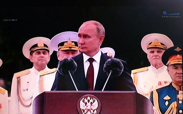 Парад в честь Дня ВМФ 25 июля 2021 с каналом Санкт-Петербург