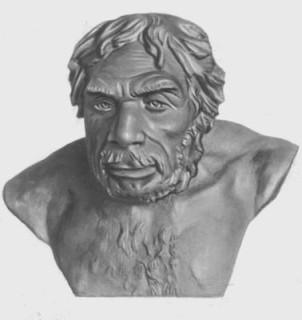 Неандерталец из Ла-Шапель-о-Сен. Реконструкция М. М. Герасимова.